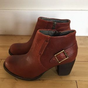 Caterpillar red ankle boots